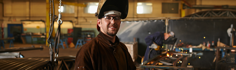 Photo of Young Welder looking forward