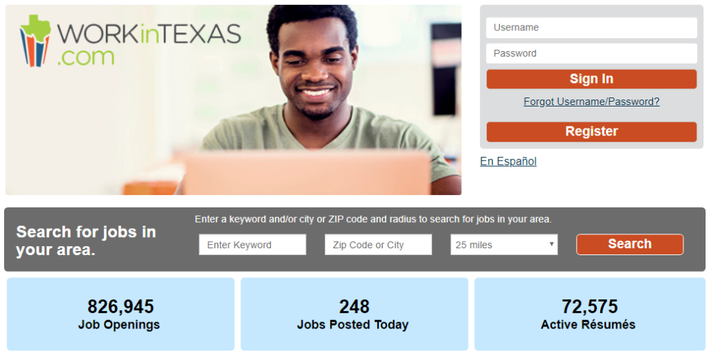 Click here to Visit the NEW and Improved WorkInTexas.com