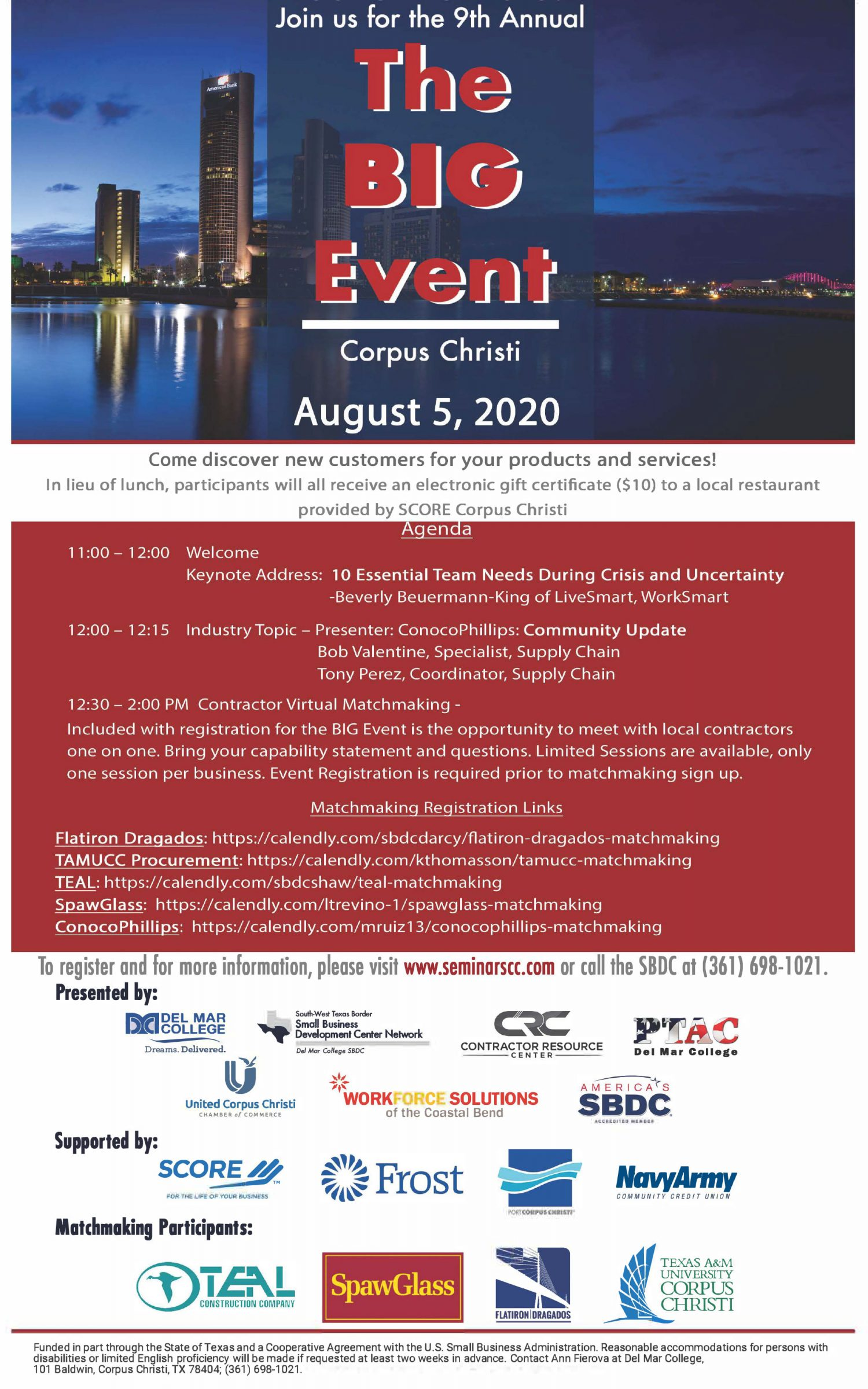 Register for the Big Event on August 5, 2020