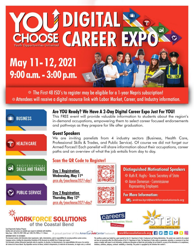 We are inviting panelists from 4 industry sectors for a 2-day Digital Career Expo!